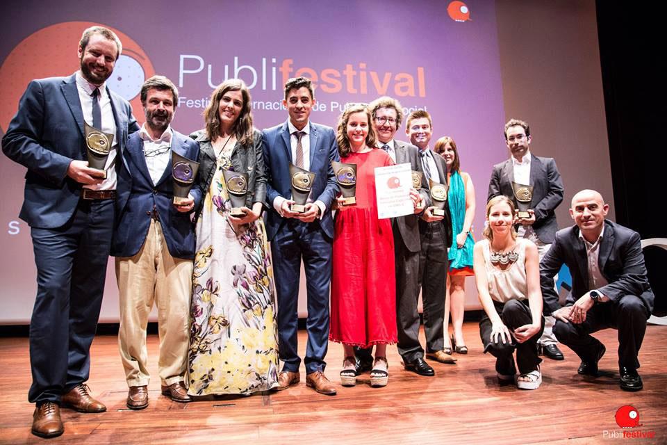 La Machi, usuarios de Debitoor en su facturación, en la ceremonia de los premios Publifestival 2017