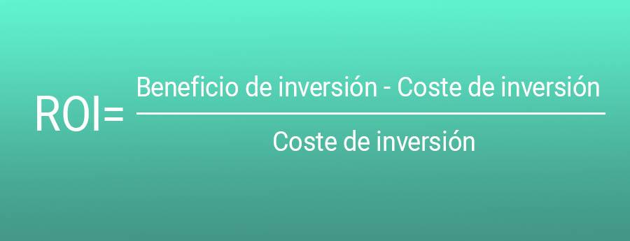 Resultado de imagen para ROI= (Beneficio-inversión)/inversión