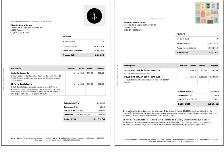 Cómo hacer una factura | Debitoor, programa de facturación